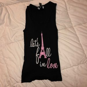 """Let's Fall in Love"" Kids Pajama Tank Top"